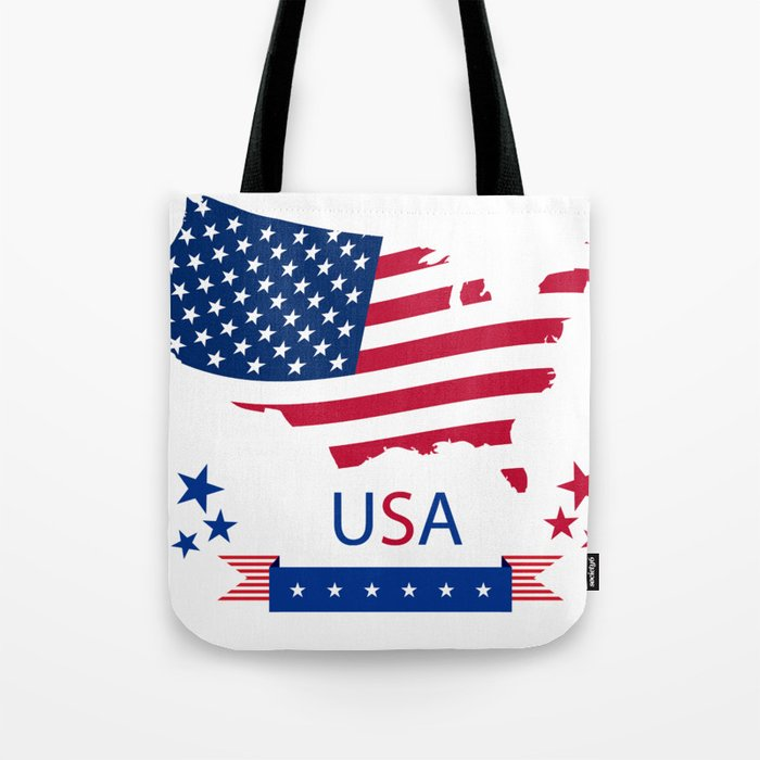 America flag Tote Bag best Independence Day gift for daughter