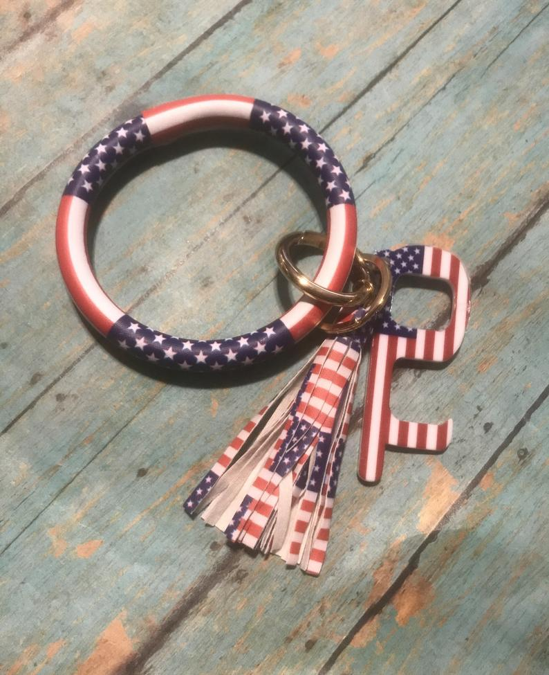 American flag keychain best Independence Day gift for daughter