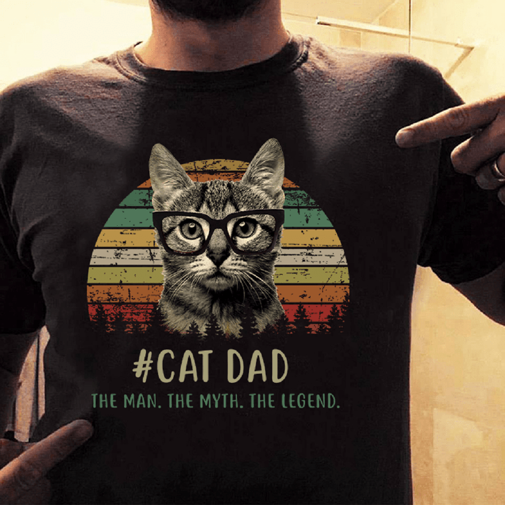 Cat Dad Shirt The Man The Myth The Legend- best gifts for cat dads