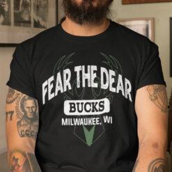 Fear The Deer Shirt Milwaukee Bucks
