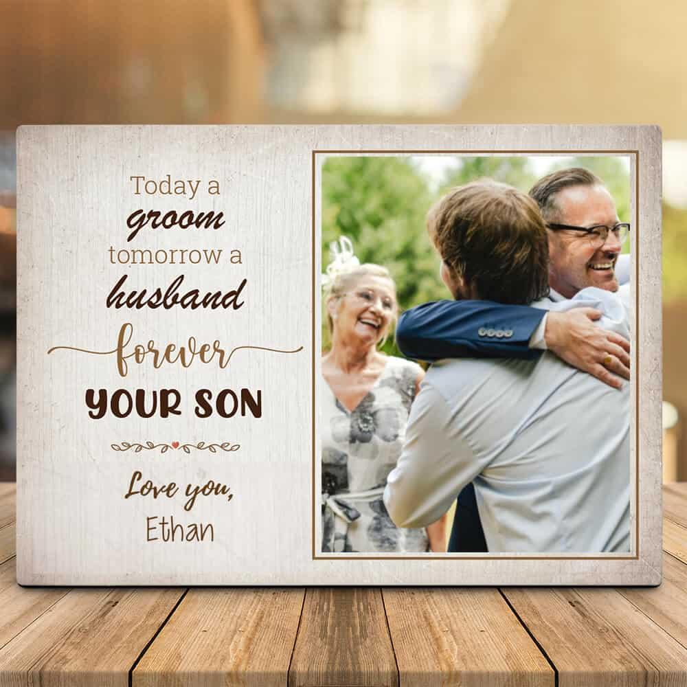 Forever Your Son Photo Desktop Plaque