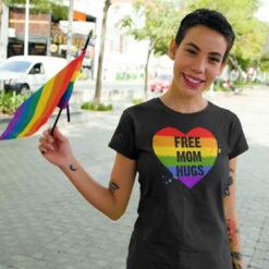 Free Mom Hugs Shirt LGBT Gay Pride