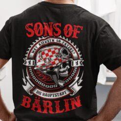 Funny Biker Skull Sons Of Barlin Shirt