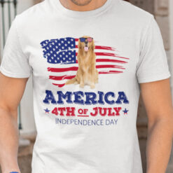 Golden Retriever America 4th Of July Independence Day Shirt