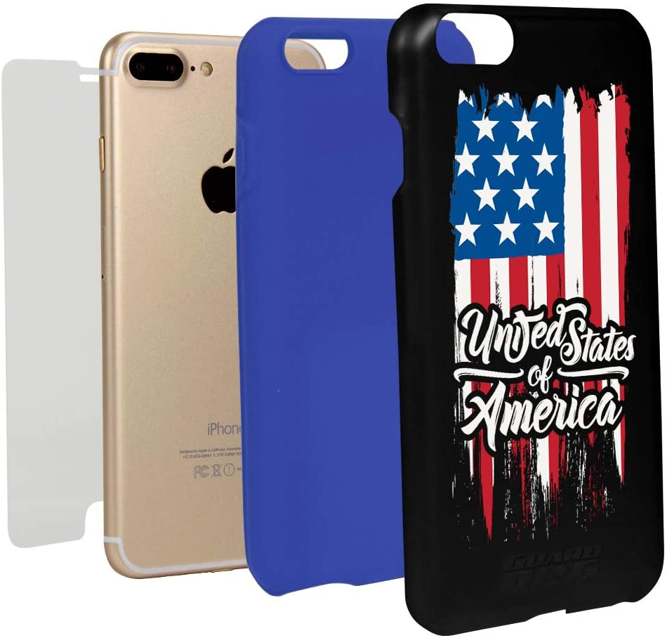 Guard Dog US Flag/American Flag Collection Black Hybrid Cas- best Independence Day gift for dad.
