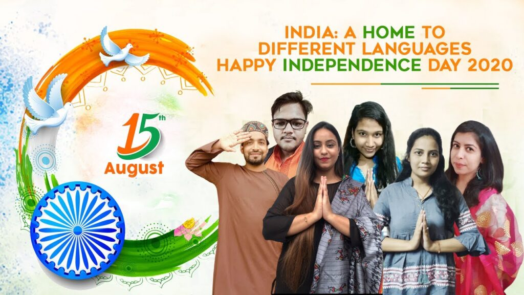 Happy Independence Day in different Indian languages