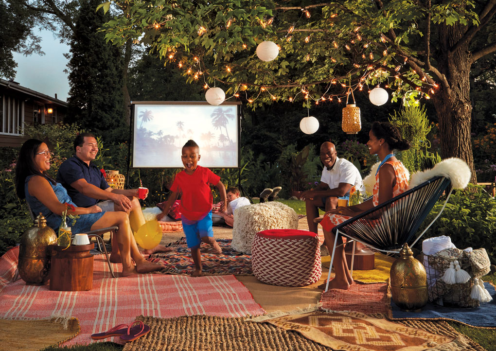 Have a movie night in the backyard
