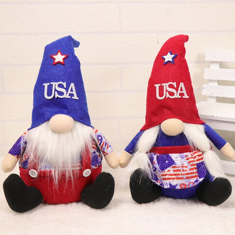 Independence Day gnome doll- best Independence Day gift under 25$