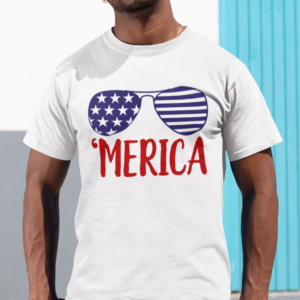 Merica 4th Of July Shirt America Sunglasses best Independence Day gift for brother