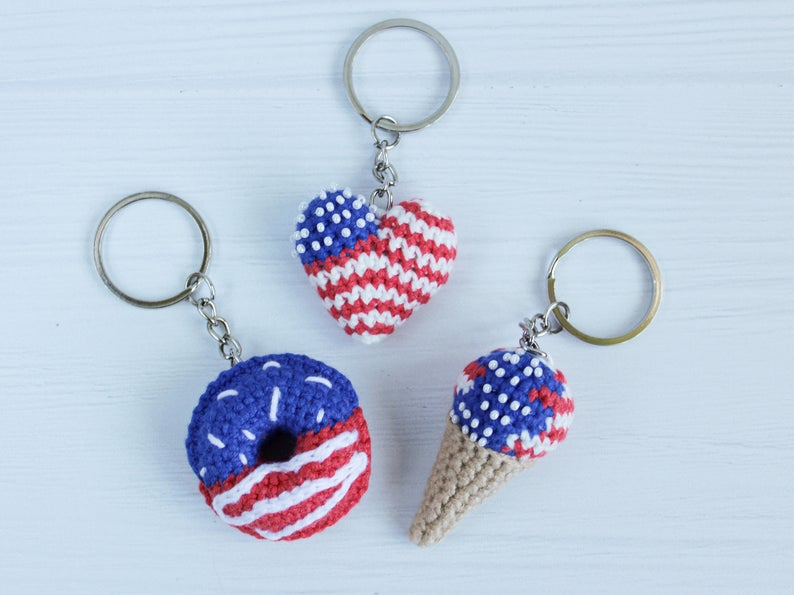 Patriotic decor keychains best Independence Gift for daughter