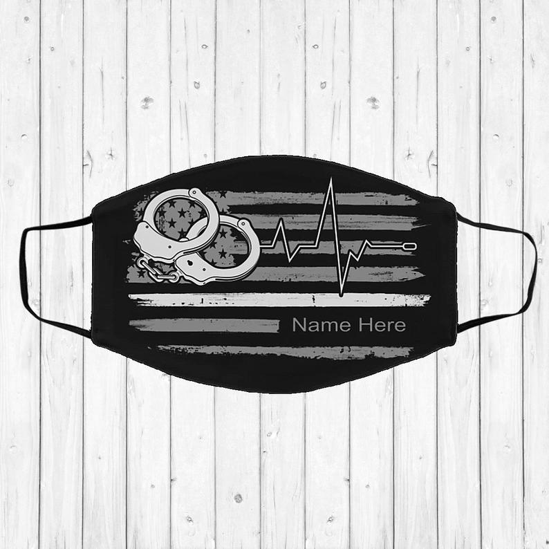 Personalized Correctional Nurse Face Mask- best Independence Day gift for nurses