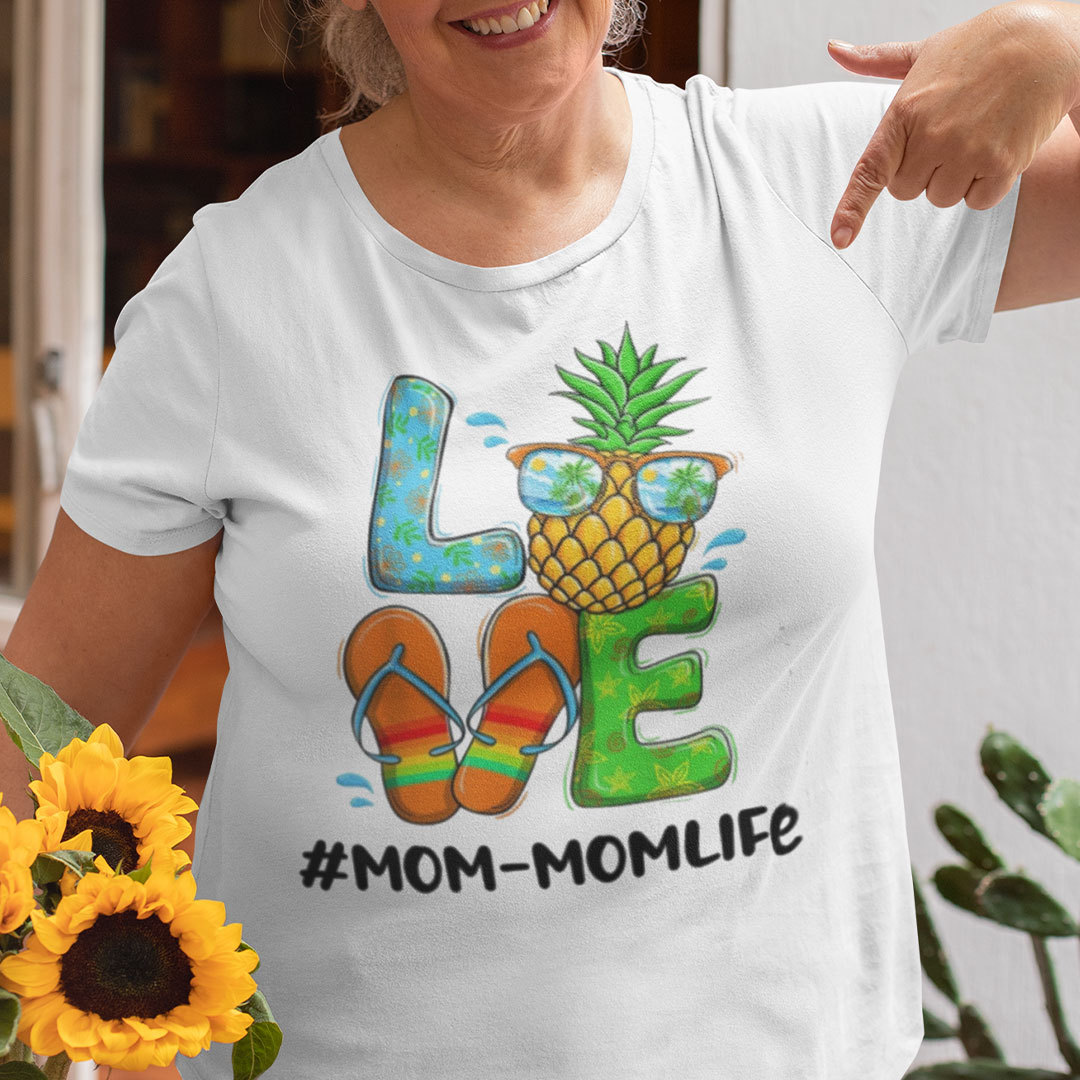 Pineapple Love Momlife Hello Summer Shirt