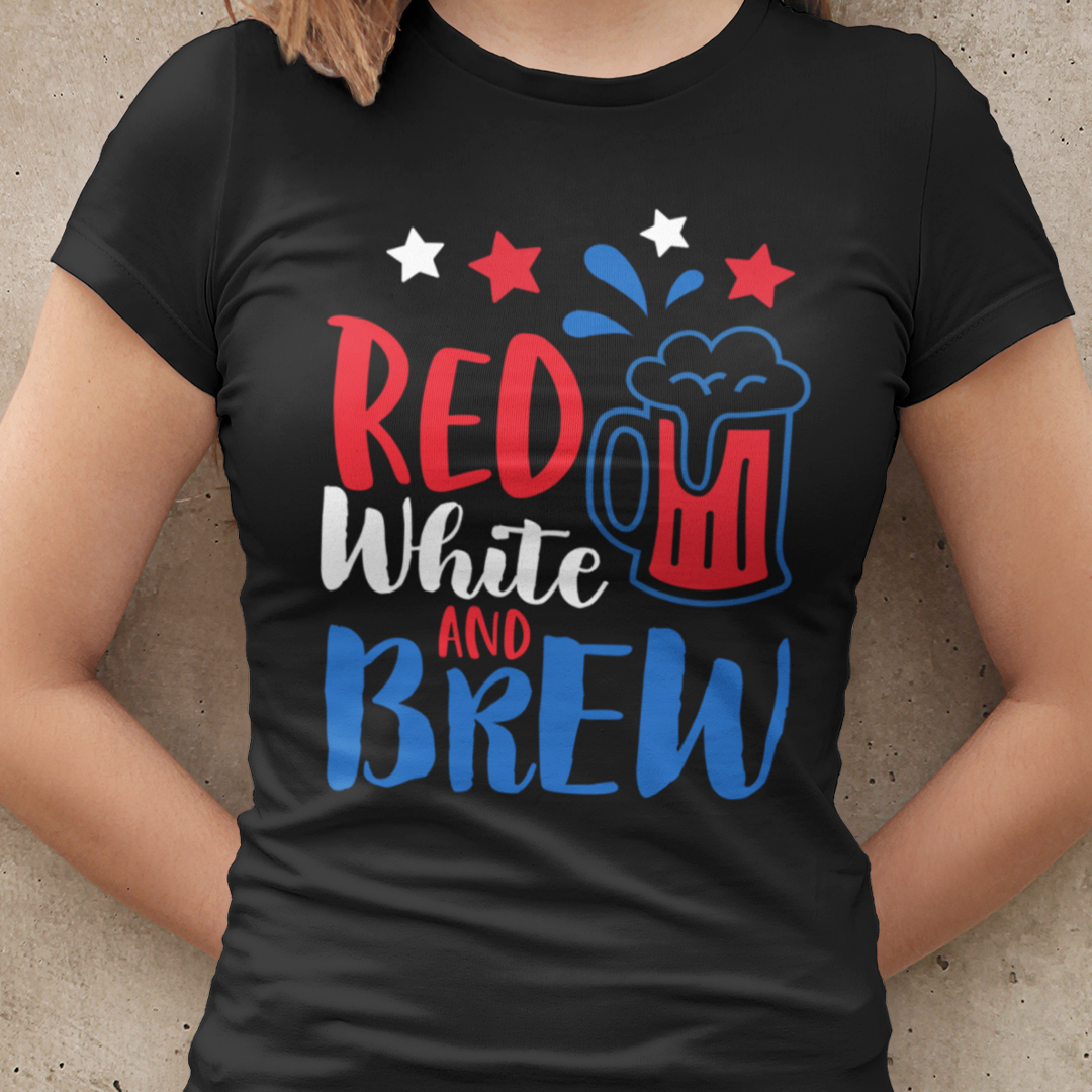 Red White And Brew Shirt 4th Of July Tee