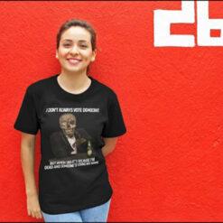 Skull I Don't Always Vote Democrat Shirt
