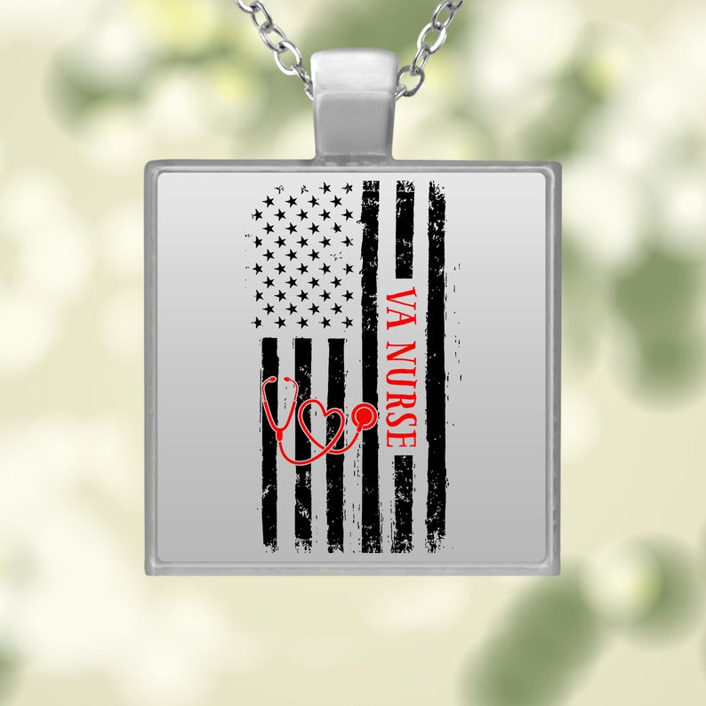 Square Necklace- best Independence Day gift for nurses