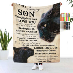 To My Amazing Son Mom And Son Panther Blanket