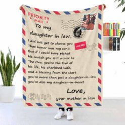 To My Daughter In Law Air Mail Blanket