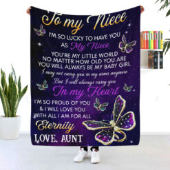 To My Niece I'm So Lucky To Have You As My Niece Blanket