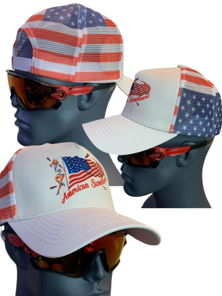 """Trucker Hat """"American Sweetheart""""- best Independence Day gift for mom."""