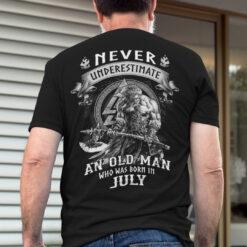 Viking Warrior Shirt An Old Man Born In July