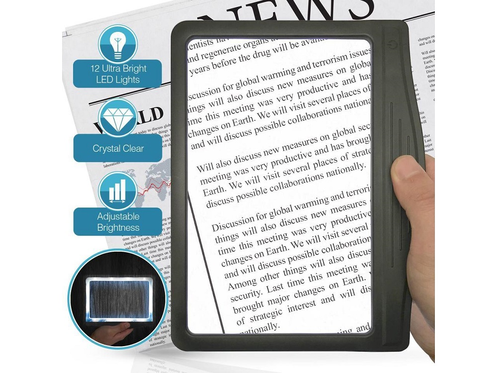 What is a good gift for parents- MagniPros 3X Large Ultra Bright LED Page Magnifier