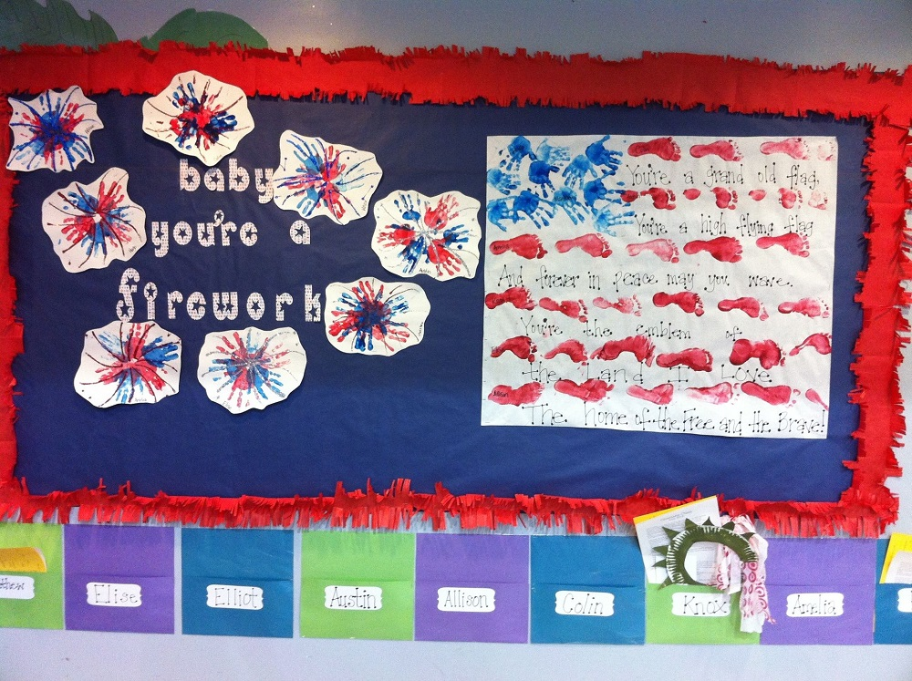 how to decorate school on the 4th of July - best school decor ideas