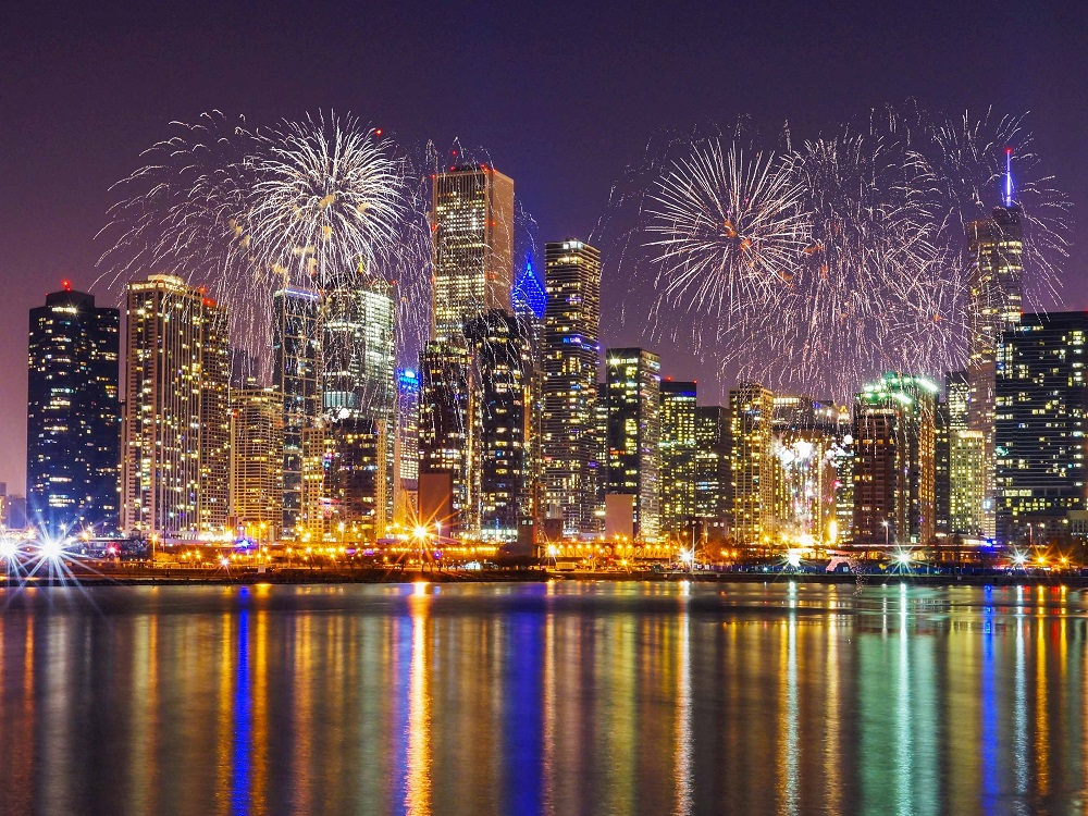 Chicago - where to watch fireworks on Independence Day
