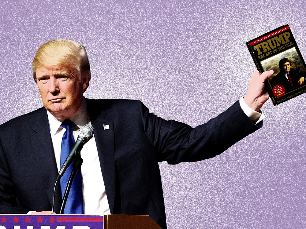 """Trump and his famous book """"The Art Of The Deal"""""""