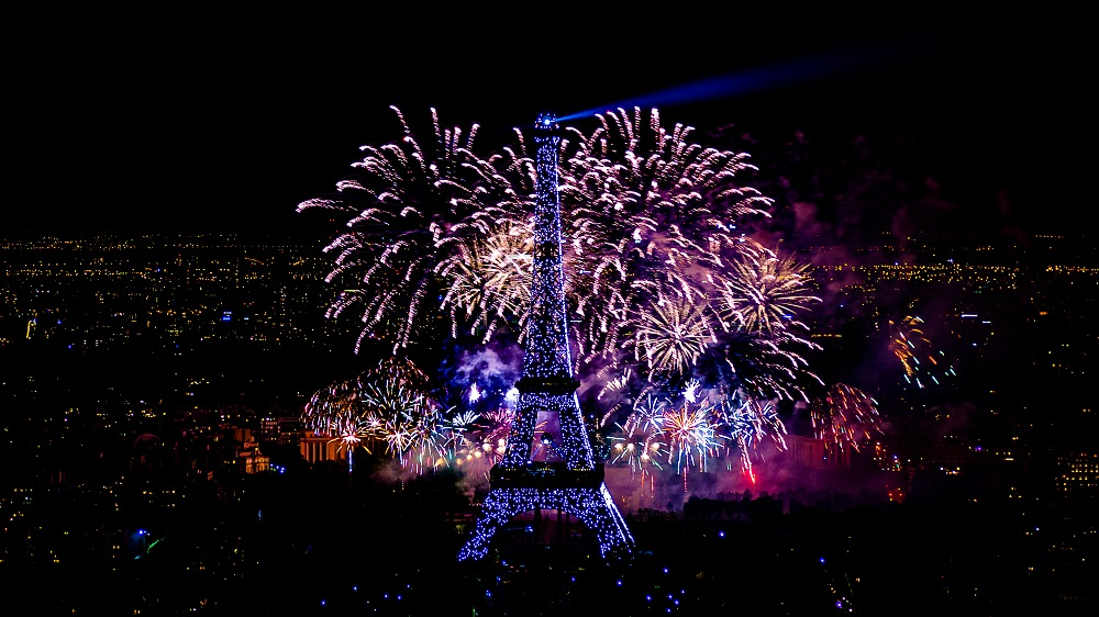 firework - how Independence Day celebrate in France