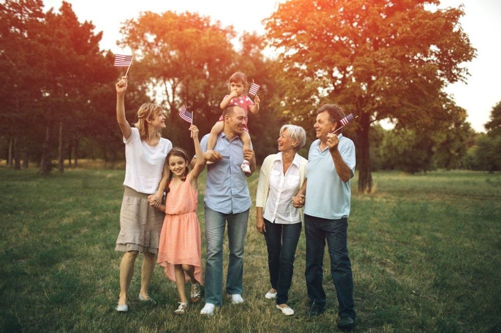 family gathering - how old is America on 4th of July in 2021