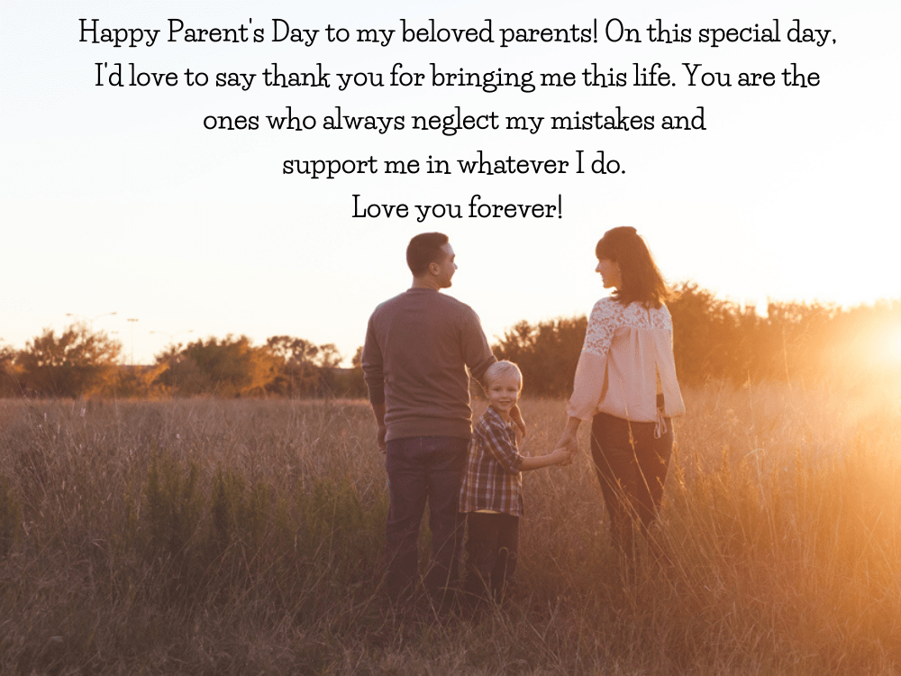 meaningful Parents' Day and wishes