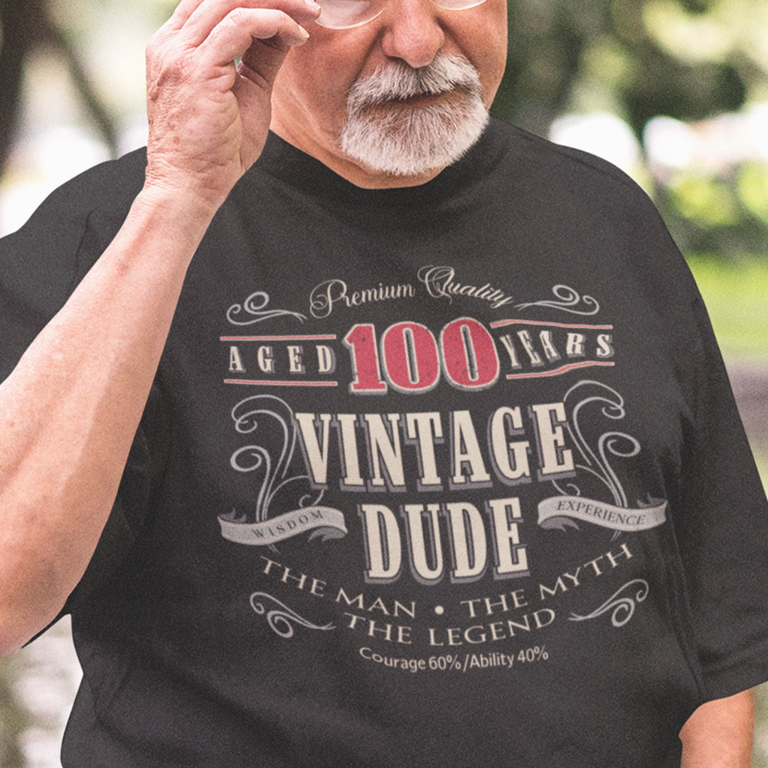 100th Birthday Shirt Limited Edition Aged To Perfection