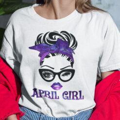 April Birthday Girl T Shirt