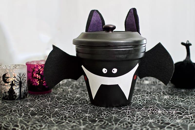 Bat Candy Dish - DIY Halloween Gifts