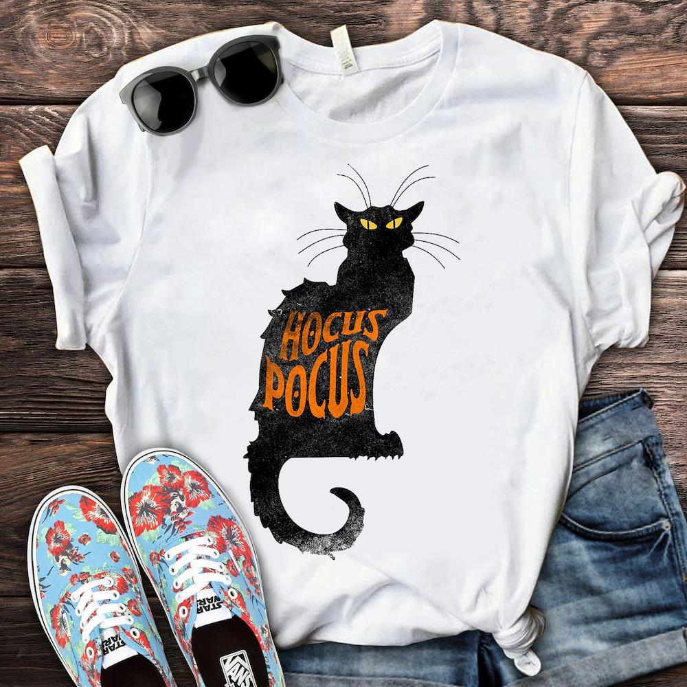 Black Cat Hocus Pocus Shirt Halloween Gift