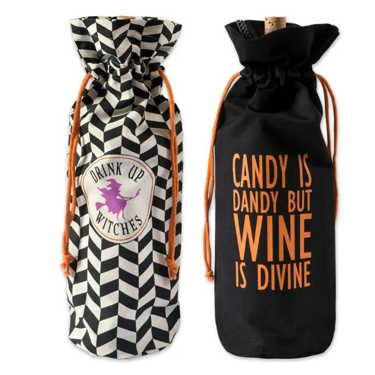 Set of 2 Halloween Wine Bags