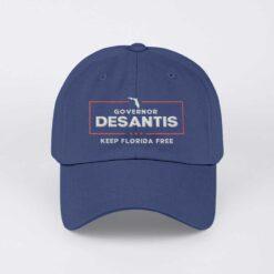 Keep Florida Free Governor DeSantis Structured Adjustable Hat