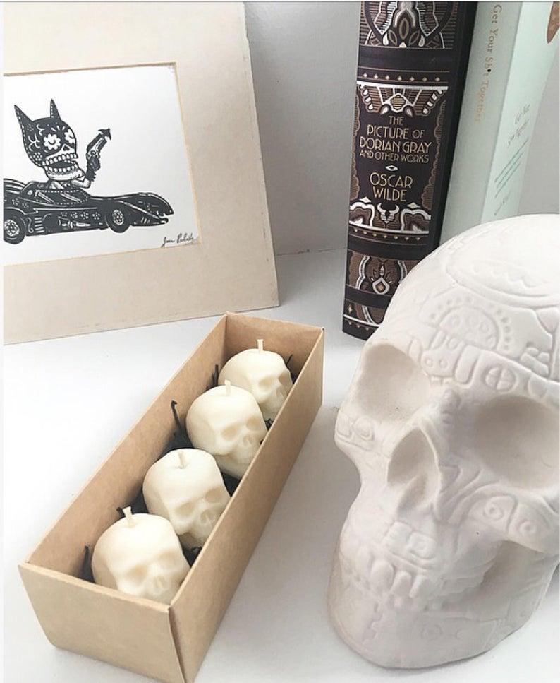 Mini Skull Tealight Candle - Best Halloween Gift Under $20
