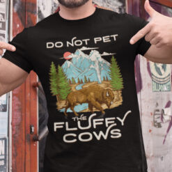 Offical Chubby Unicorn T Shirt Do Not Pet The Fluffy Cows