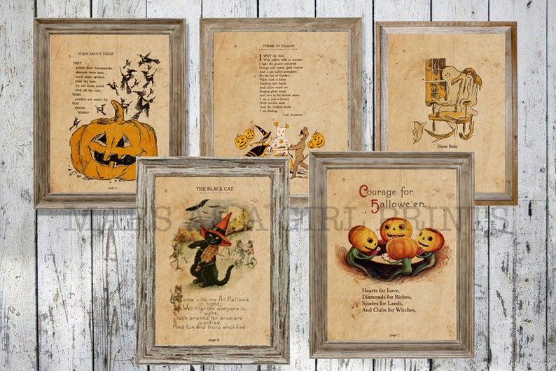 Rustic Farmhouse Halloween Decor- best Halloween gift ideas for teachers.
