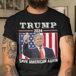 Save American Shirt Trump 2024 Save American Again