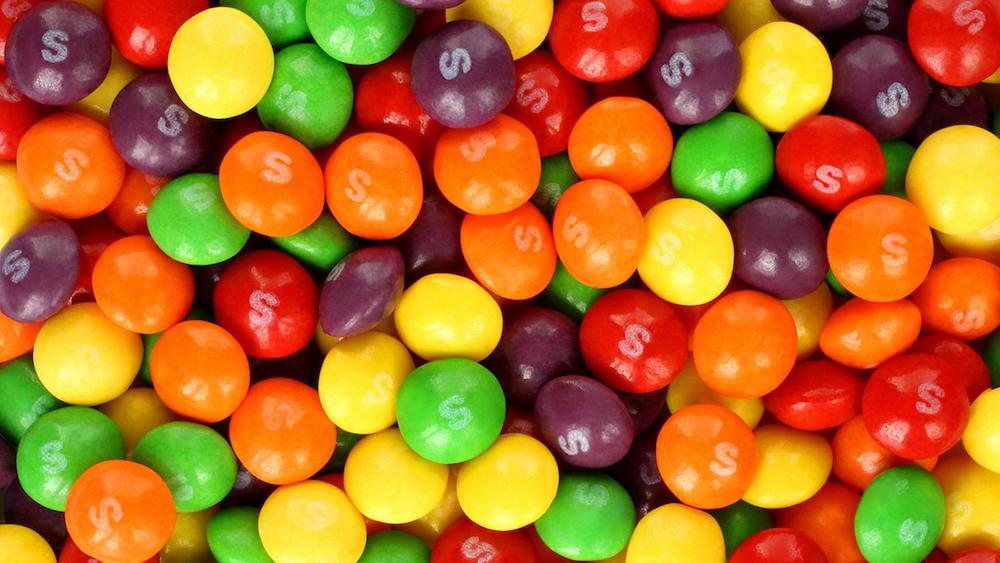 Skittles- one of fun Halloween facts
