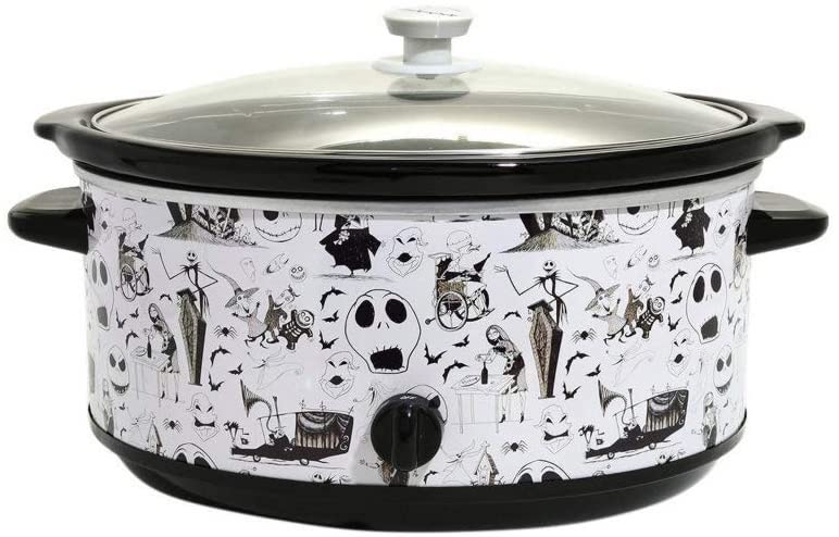 The Nightmare Before Christmas Characters 7-Quart Slow Cooker- best Halloween gift ideas for teachers.