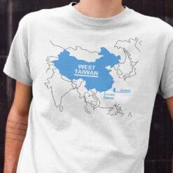 West Taiwan T Shirt Funny China Map