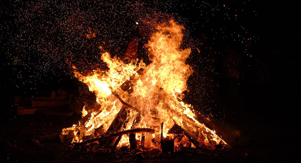 What are traditions on Halloween- Bonfires