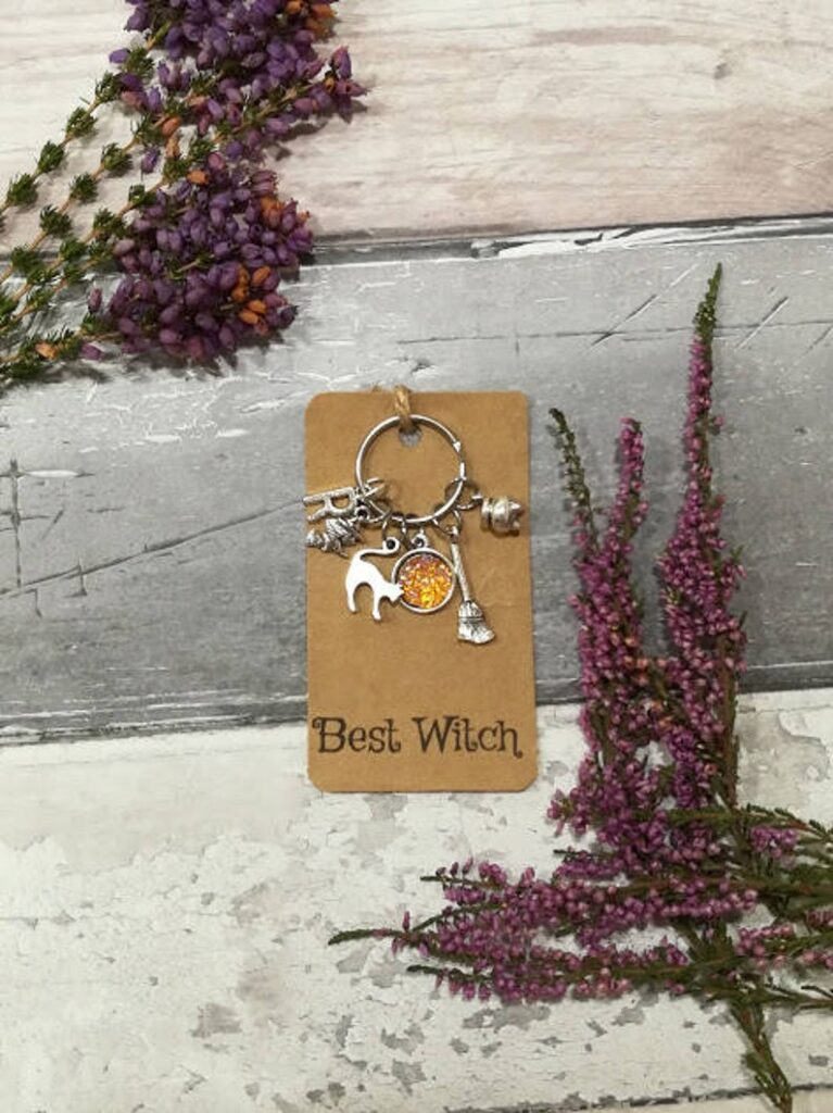 Witch Keyring- best Halloween gift for grandma.