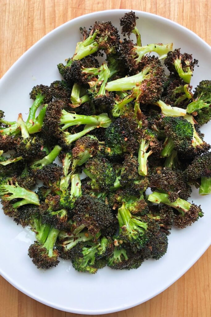 Air Fryer Broccoli - best vegetable side dishes for Thanksgiving