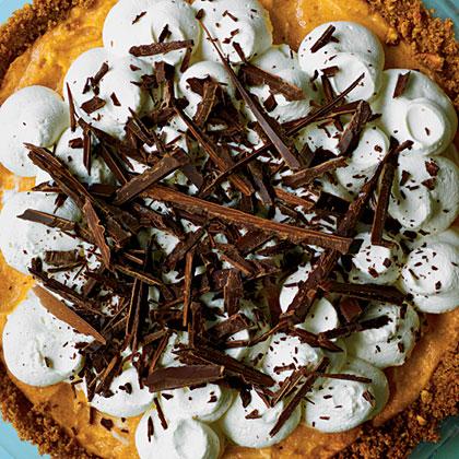 Black Bottom Pumpkin Pie- best chocolate Thanksgiving desserts