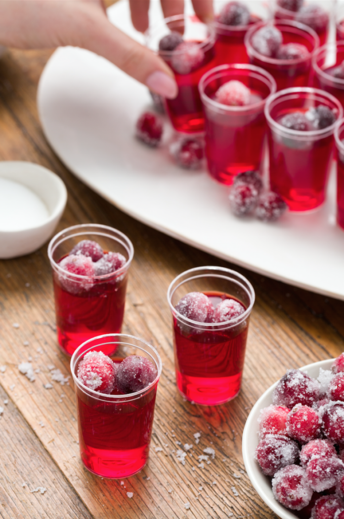 Cranberry Jelly Shots- classic Thanksgiving drinks
