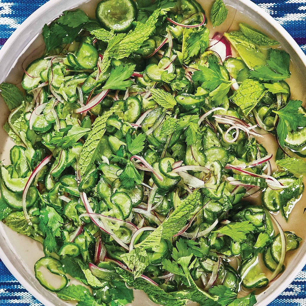 Cucumber and Onion Salad- best salad recipes for Thanksgiving dinner